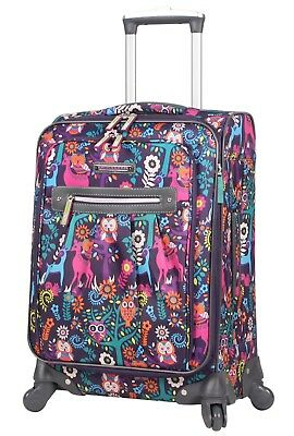 70ea61da3 Lily Bloom Luggage 20'' Carry On Expandable Design Pattern Suitcase For  Woman