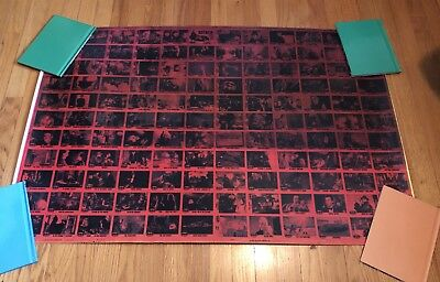 RARE! BATMAN 1989 Uncut Topps Trading Card Sheet ERROR RED