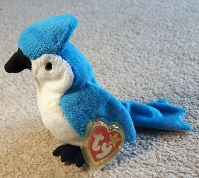 Ty Beanie Babies Rocket the Blue Jay Retired 1997