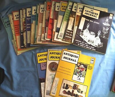 Antiques Journal American Antiques Journal - 21 Volumes from 1973-1978