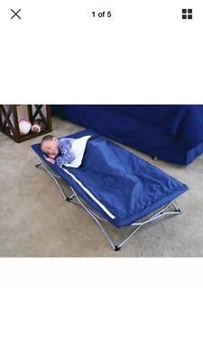 Regalo Deluxe My Cot Portable Toddler Bed, Includes Sleeping Bag Travel Case,