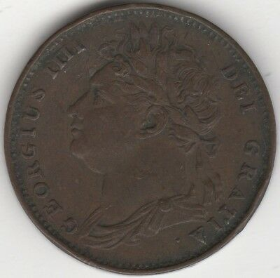 1821 George IV Farthing | Pennies2Pounds