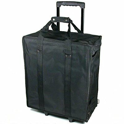 Large Jewelry Display Box Black Carrying Case w/Wheels