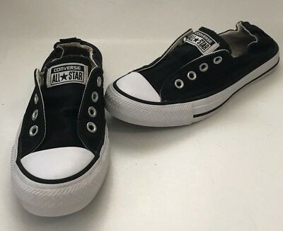 cb4686e86f94ad Converse Chuck Taylor All Star Shoreline Womens Slip-On Sz 7 Shoes Black  537081f