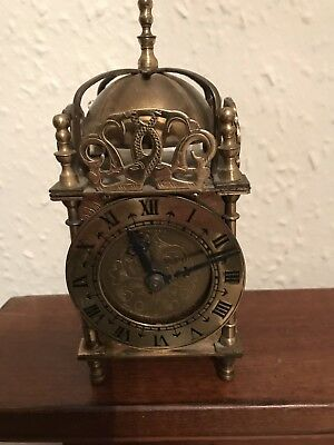 Vintage Smiths Nell Gwynn Brass Dome Carriage clock. Setric 240v