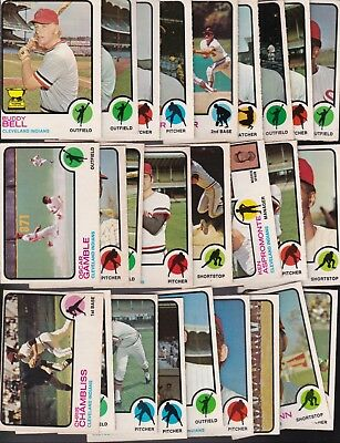 1973 O-PEE-CHEE Team LOT of 26 Cleveland INDIANS EX/MT Buddy BELL (R) GAMBLE OPC