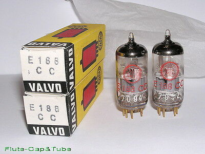 NOS NIB 1966's VALVO-PHILIPS Red E188CC/ 7308 Big O Getter Matched Pair tubes II