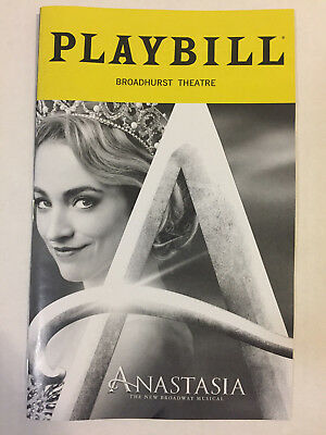 Anastasia Playbill Book Theater New York City Nyc Broadway October 2018