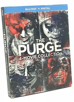 Purge: 4-Movie Collection, The (Blu-ray+Digital, 4-Disc Set) NEW w/ Slipcover