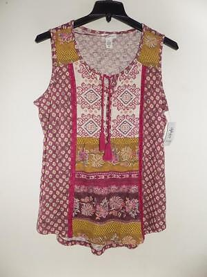 d5323f72425 WTB4224 Style co. Women s Plus Sleeveless Embroidered Peasant Top NWT Size  1X