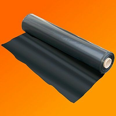 Black Polythene Heavy Duty Plastic Sheeting DPM Rolls for Garden Greenhouse Use