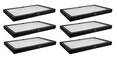 6 Pack Riker Style Display Case 8x12x.75 for Collectibles Jewelry & More NEW