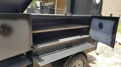 Propane Burner BBQ Smoker Grill  Street Vendor Mobile Kitchen Trailer Food Truck