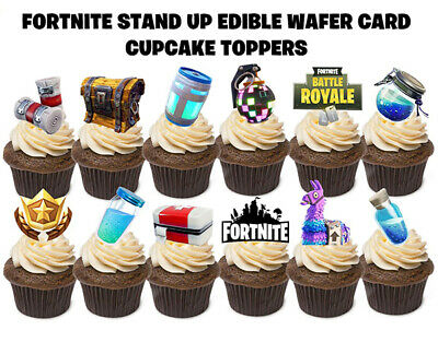 24 FORTNITE STAND UP Edible Birthday Cupcakes Cup Cake Cake Toppers Images SET 2