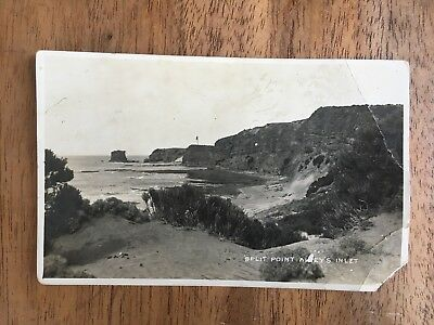 ANTIQUE c.1920's PHOTO POSTCARD  SPLIT POINT AIREYS INLET GREAT OCEAN RD(PF1-1)
