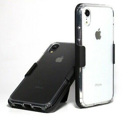 Apple iPhone XR 10R CLEAR HYBRID Air Cushion CASE with BELT CLIP HOLSTER