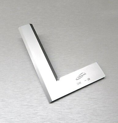 """Square 90º Right Angle Machinist Square Beveled Steel 6"""" -150mm Hand Design Tool"""