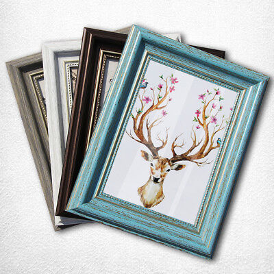 Photo Frame Picture Frames 5/8inch/A4 Vintage Colored Square Wall Table Decor