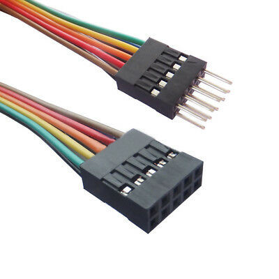 Single/Double Row DuPont 2.54mm Rainbow Cable Ribbon Jumper Wire Male-Female