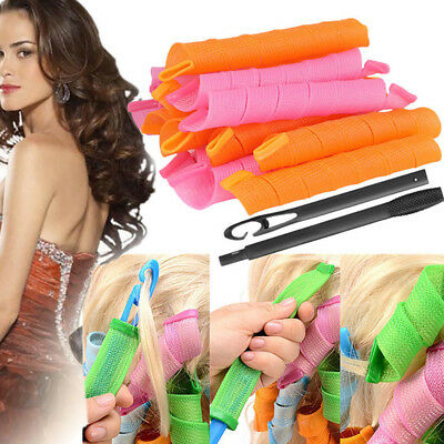 18/40X Long Hair Curlers Curly Formers Rollers Spiral Ringlets Beauty Tool New