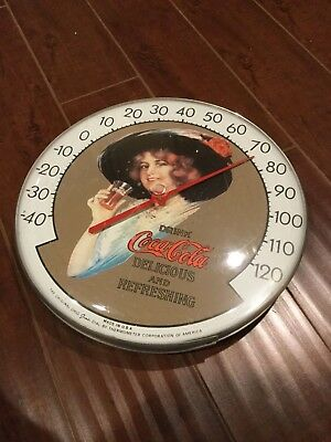 Vintage Coca Cola Wall Thermometer  USA 12""