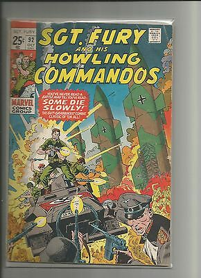 SGT. FURY AND HIS HOWLING COMMANDOS #92 Dick Ayers GIANT ISSUE! VG