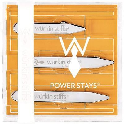 """6 Set Assorted-Size and Magnetic Power Collar Stays  2.0"""" 2.5"""""""