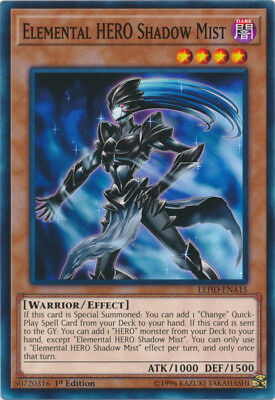 x1 Elemental HERO Shadow Mist - LEHD-ENA15 - Common - 1st Edition Near Mint In H