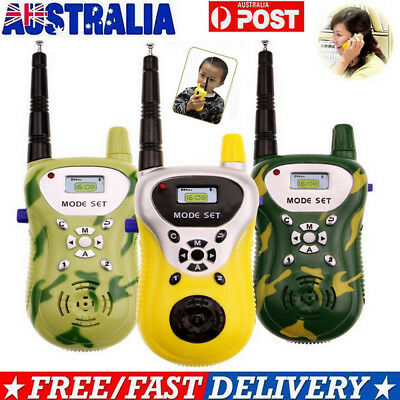 2X Mini Walkie Talkie For Child Kid Toy 2 Way Radio Outdoor Interphone 409-410MH