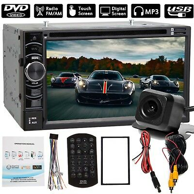 """Double 2DIN 6.2"""" Car Stereo Radio DVD Player Touch Screen + Rear Camera Hot!"""