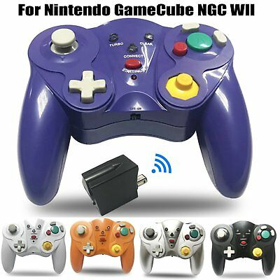 Wireless 2.4G Gamecube Controller Gamepad with Adapter for Nintendo Wii GC NGC