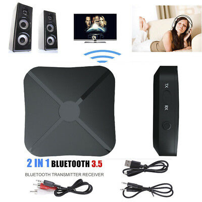 2 in 1 Wireless Bluetooth Audio Transmitter Receiver HIFI Music Adapter RCA AUX
