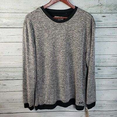 bdaaf1c875 NWT  39 Kenneth Cole Reaction Downtime Black Marled LS Pullover Men s Size  Large