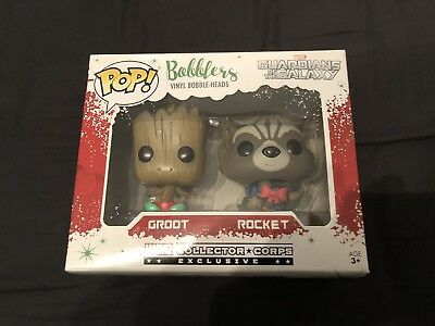 Funko Pop Rocket Groot Bobblers Marvel Collector Corps Exclusive Guardians