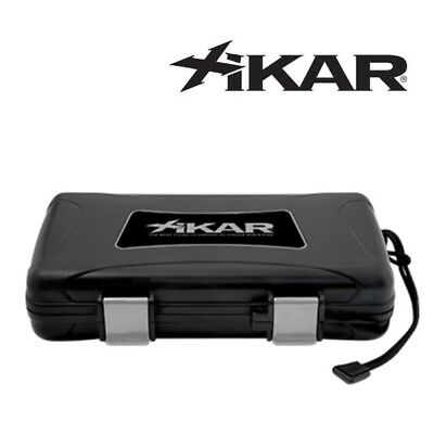 NEW Xikar - Travel Humidor Case - Black - 5 Cigar Capacity