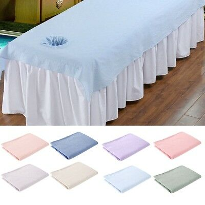 200 x 80cm Beauty Massage Bed Table Cover Salon Spa Couch Cotton Sheet With Hole