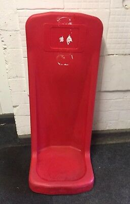 Red Plastic  Fire Extinguisher Stand - Single