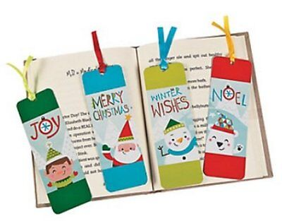 Christmas Noel Bookmarks - Book Reading School Bag Fillers Pack Size 6 - 48