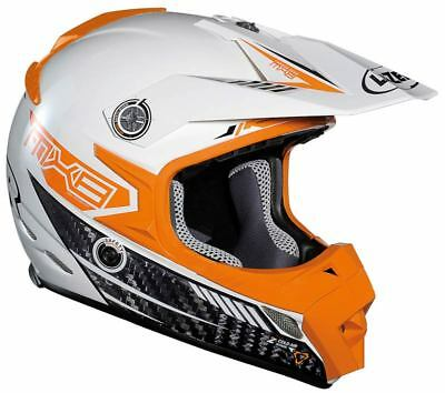 Lazer MX8 pure carbon white orange black  , Mx, Enduro, Offroad Helmet