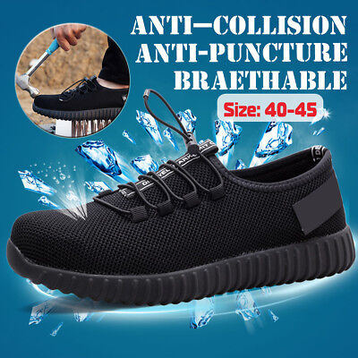 Men Safety Work Shoes Steel Toe Cap Hiking Boots Hiker Trainers Sport Breathable