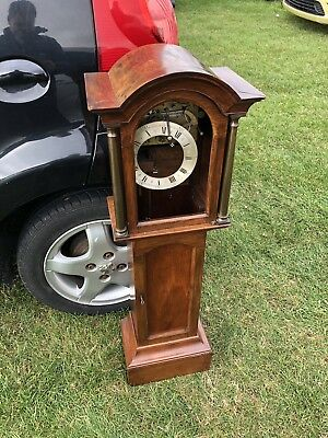 INTERESTING ANTIQUE GRANDFATHER OR GRANDMOTHER CLOCK - Spares Or Repairs