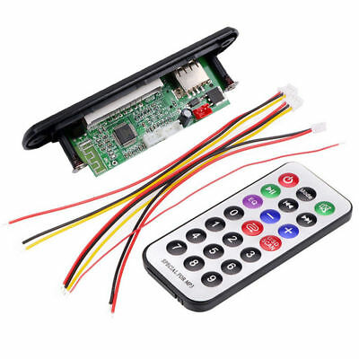 Car Bluetooth MP3 WMA FM AUX Decoder Board Audio Module TF SD Card USB Radio Top