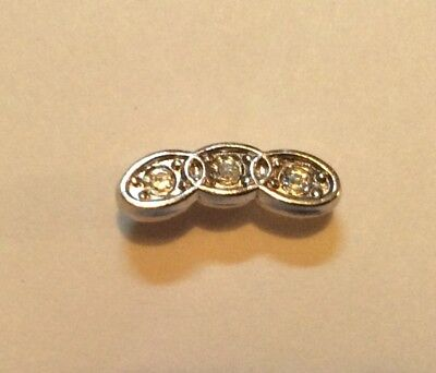 Vintage Sterling Silver Ioof Pin With Stones Chain Links