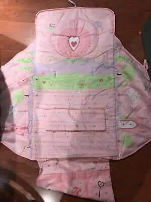 Used Great Condition DISNEY PRINCESS baby girl 3 in 1 pink cart high chair cover