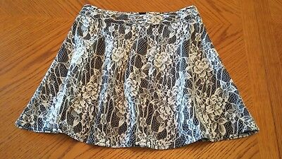 Girl's black lace skirt size M (10-12)