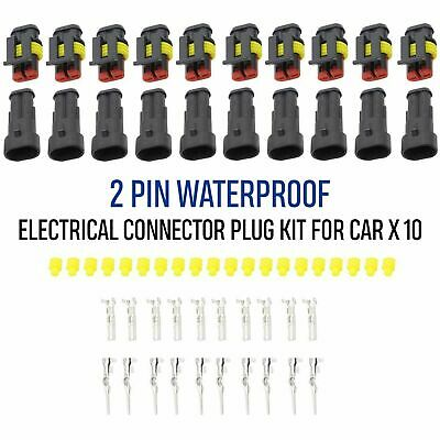 New 2Pin Way Plug Kit Car Waterproof Electrical Wire Cable Automotive Connector