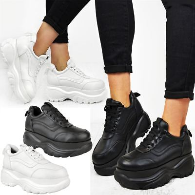 Womens Chunky Trainers Retro High Platform Sneakers Boots Rock Punk Goth