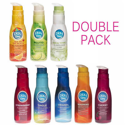 Flavoured Water Based Lubricant Juicy Lube Intimate Lubricants - DOUBLE PACK