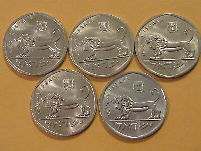 1979 Israel coin  5 Lirot Large   LION  5 coin grp less than perfect !!!!!!