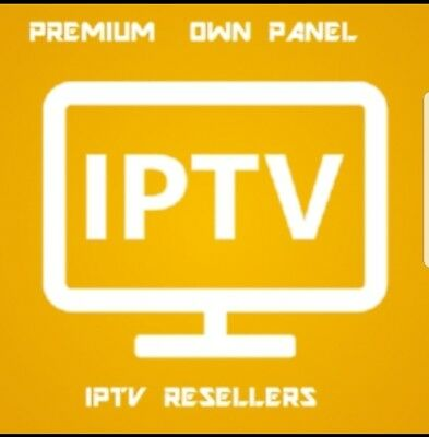 IPTV RESELLER PANEL with 7 x Yearly accounts = 28credits | BEST ON EBAY